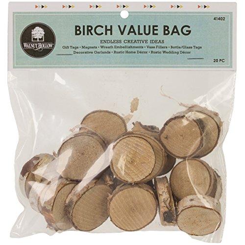 Walnuss Hohl Baltischer Birke Value Bag 20/Pkg, Mehrfarbig, 19,05x 16,51x PET Market cm -