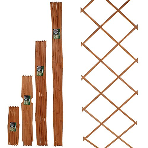 51rgpo37VkL - BEST BUY# Marko Gardening 6FT Expanding Trellis Wooden Adjustable Expandable Garden Outdoor Climbing Plant (120cm x 180cm (4FT x 6FT)) Reviews and price compare uk