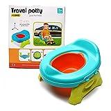 Baby Toilette TöpfchenTrainer Lerntöpfchen - Wishtime Baby Reise Töpfchen Set Tragbarer Faltbarer Potette 2 in 1 Potty Trainer für Kinder