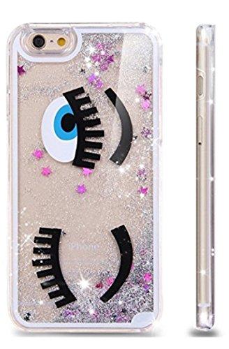 Phone Kandy® Hart Transparent Shell Glitter Stars Sparkle Telefon-Kasten mit Karikatur Hülle Abdeckung Haut tascen Prime (iPhone 6 6s, Augenzwinkern Silber) (Iphone 6 Minnie-telefon-kasten)