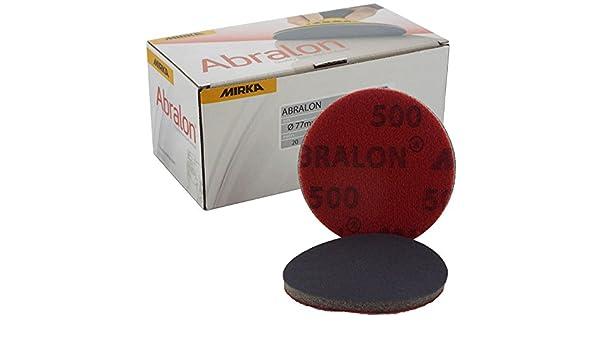 Mirka Abralon /Ø 77mm 3 2000 Grit Velcro Sanding Disc//Pad Sand Foam Machine Pads Suitable Materials Aluminium//Hard wood//Mild steel//carbon steel//Non-ferrous metal//Paint sanding//Stainless Steel//Primer