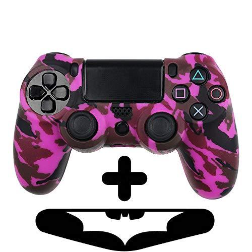 PlayStation 4 Controller Silikonhülle + Bonus LED Sticker | Sony PS4 Schutz Hülle Pad Case | Für eine coole Optik, besseren Schutz & mehr Spaß beim spielen |Für PS Pro & PS Slim Pad geeignet |Lila -