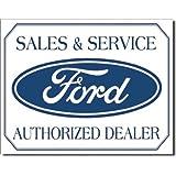 Ford Logo Cartel de Chapa Placa metal plano Nuevo 40x31cm VS4729-1