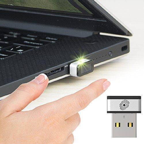 Mini lecteur d'empreinte digitale USB pour Windows 7, 8 & 10 Hello, PQI My Lockey clé de sécurité multi-biométrique fido avec contact à 360° et association rapide