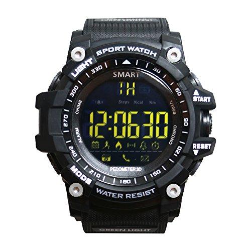 POWER BRIGHT Smart Watch, Bluetooth 4.0 Digitale Smart Watch Wasserdichte Sport Intelligente Uhr Unterstützung Android 4.3 und ios 7.0 (schwarz)
