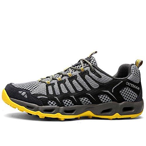 autunno per estate sneakers campeggio trekking e alpinismo arrampicata Suetar da ginnastica uomo Scarpe rapida donna a Gray passeggiata essiccazione x078f