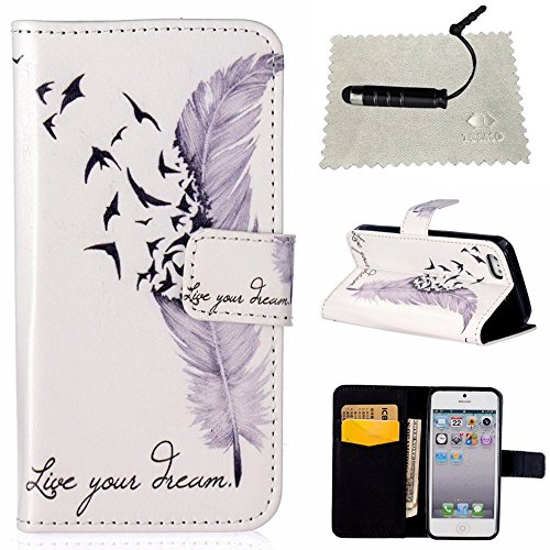 Custodia per iPhone 6s Plus Rosa,TOCASO Flip Case PU Pelle [Wallet Design] Caso per iPhone 6s Plus Portafoglio Cover Ultra Sottile Leather Protettivo Cases Covers Shell ID Carta Slots Caso Guscio Cope #4