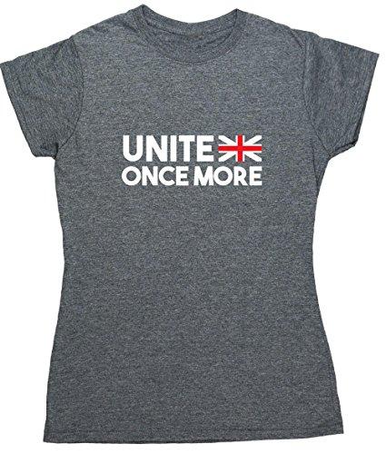 HippoWarehouse  Damen T-Shirt Gr. XX-Large, grau meliert (Art-union T-shirt Flag Jack)