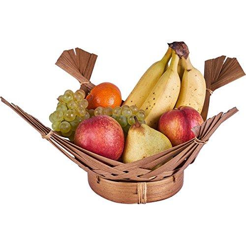 KOH DECO Corbeille à Fruits en Bambou Marron