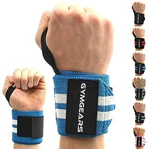 GYMGEARS® Handgelenk Bandagen [2er Set] Wrist Wraps 45cm – Profi Handgelenkbandage für Kraftsport, Bodybuilding, Powerlifting, Crossfit & Fitness – Für Frauen & Männer geeignet