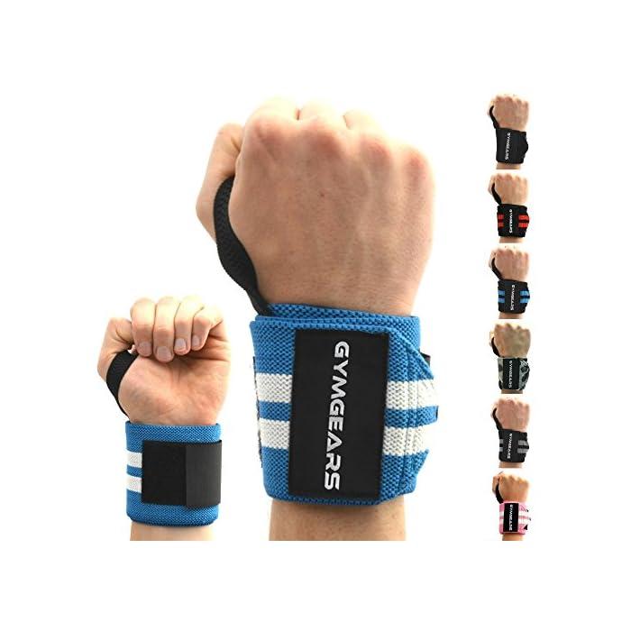 GYMGEARS® Handgelenk Bandagen [2er Set] Wrist Wraps 45cm - Profi Handgelenkbandage für Kraftsport, Bodybuilding…