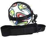 ZOORON Elastic Football Kick Trainer Training Assistance Practice Aid Control Skills Adjustable Waist Belt Solo for Kids Adults