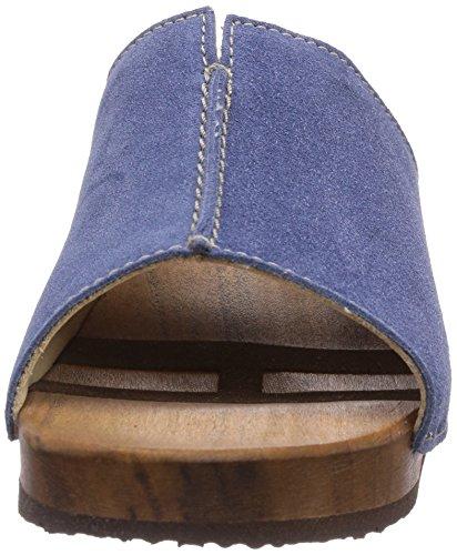 Woody Anja, Chaussures de Claquettes femme Bleu - Bleu foncé