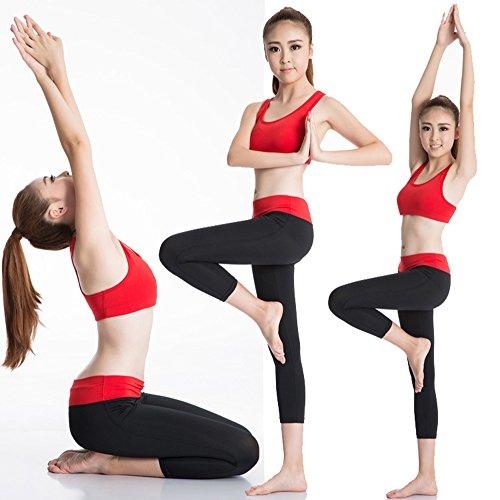 Femme Soutien-gorge de Sport Lingerie Brassière Sport Gym Fitness Sport Yoga Stretch Rouge