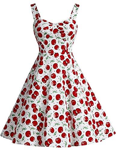Dresstells Schultergurt 1950er Retro Schwingen Pinup Rockabilly Kleid -