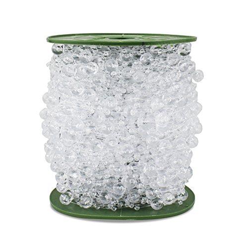 PsmGoods® Perlas de cristal de granos de acrílico del rollo de crist