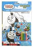 Anker THCST Thomas & Friends Malbuch mit Stiften, mit Motiven aus der Serie Thomas, die Kleine Lokomotive