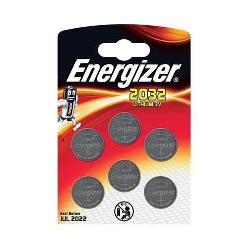 Energizer Lithium-Batterie CR2032,3V, Ref.nr. E300303700, 6er-Pack, 151719