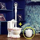 Toilette bürste halter,Bad wc,Keramikbeschichtung Lange Europäischer stil Punch-frei-C