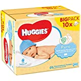 Huggies Lingettes Pure X10 Packs