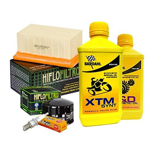 Tagliando Bardahl XTM 20W50 filtro olio aria candele cambio 75W90 R 1200 GS.