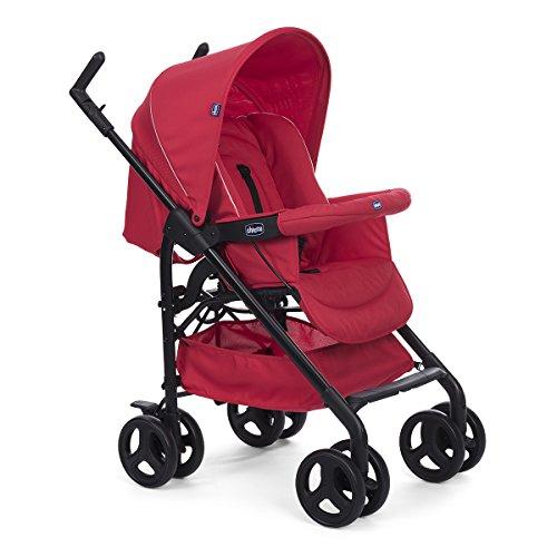 Chicco Trío Sprint - Sistema de paseo y viaje 3 en 1, capazo/carrito/coche, color rojo