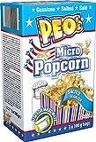 Peo's Micro Popcorn, Gesalzenes Mikrowellenpopcorn 12er Vorteilspack, 12 x 300 g