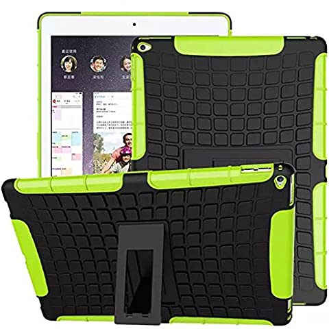 FALIANG iPad Pro 12.9 inch Custodia, 2in1 Armatura Combinazione Gommisti Stile Antiurto Scudo Body Armor Copertura Defender per iPad Pro 12.9 inch (Verde)