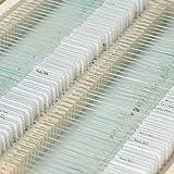 KKmoon 100 Stück Mikroskop Dauerpräparate Objektträger Set mit Holzkiste, Lern Experiment Set für Grundlegende Biologische Ausbildung, Folien Tier Pflanzen Insekten Gewebe Proben von KKmoon