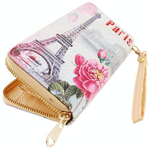 art decor Geldbörse Paris, Portmonee, Geldbeutel, Langbörse, Brieftasche, Breite ca. 19cm
