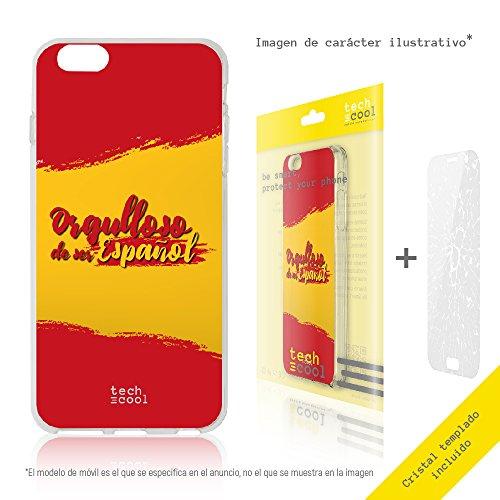 Funnytech® Funda Silicona para Google Pixel 2 XL [Gel Silicona Flexible, Diseño Exclusivo] Bandera España Orgulloso