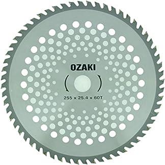 Greenstar 3488 – Hoja adaptable para desbrozadora (255 x 25,4 mm, 60 dientes de punta de carburo)