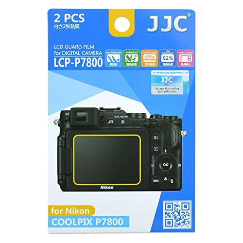 JJC Guard Film displayschutzfolie passgenau für Nikon Coolpix P7800 - Anti-Kratzer Antireflex Displa