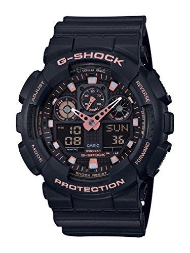 Casio Reloj Analogico-Digital para Hombre de Cuarzo con Correa en Resina GA-100GBX-1A4ER