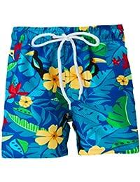 Fanient Pantalones Cortos de Tabla de Surf para niños pequeños de niños de Secado rápido Troncos