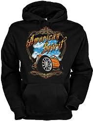American Spirit Baumwolle, Kapuzensweatshirt American spirit yellow hot rod cooles Design mit heißem Auto