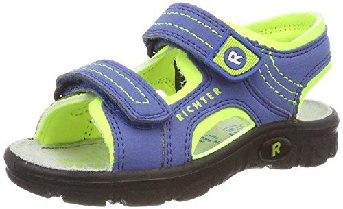 Richter Kinderschuhe Jungen Adventure Outdoor Sandalen, Blau (Cobalt/Mais Neon), 37 EU