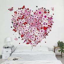 Fotomural - Retro Floral Heart - Mural cuadrado, papel pintado, fotomurales, murales pared, papel para pared, foto, mural, pared barato, decorativo