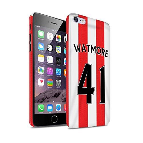 Offiziell Sunderland AFC Hülle / Glanz Snap-On Case für Apple iPhone 6S+/Plus / Pack 24pcs Muster / SAFC Trikot Home 15/16 Kollektion Watmore