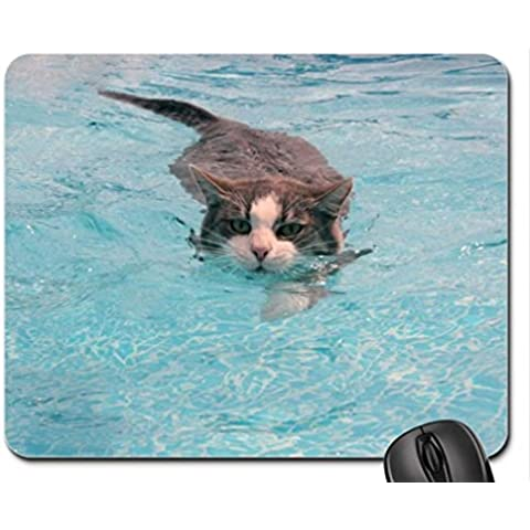 Floating cat Mouse Pad, tappetino per Mouse, Tappetino per Mouse, motivo: gatti