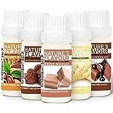 ALPHAPOWER FOOD Aromas alimentarios por repostería y bebidas I Súper pack ahorro 5x10ml, Vegano, 100% naturales con Sabor Pre
