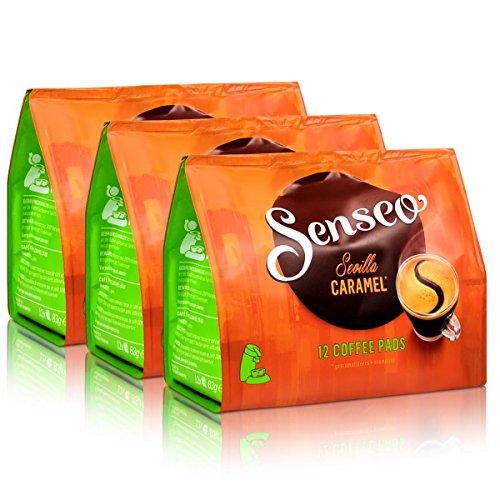 Senseo Kaffeepads City Sevilla Caramel, Karamell, Aromatisierter Kaffee, 36 Pads