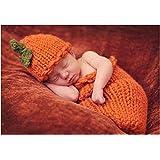 Fotografía Prop calabazas de Halloween Disfraz de Crochet de Punto Gorro Saco de dormir