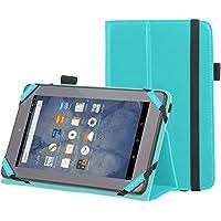 "AmazonBasics - Funda con soporte para Kindle Fire, 7"" (17,7 cm) (modelo de 2015), Turquesa"