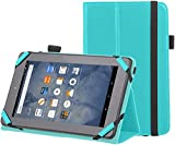 "AmazonBasics - Custodia con supporto per Kindle Fire, 7"" (17,7 cm) (modello 2015), Turchese"