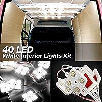 Audew LED Auto Innenbeleuchtung Auto Innenraumbeleutung Lampe Interior Licht 10x4 Leseleuchte LED Panel Kits Weiß 12V