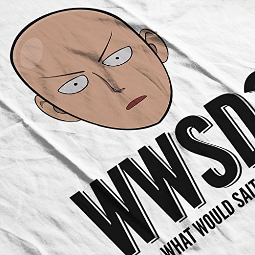 Cloud City 7 WWSD What Would Saitama Do One Punch Man Womens Vest white