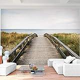 Premium Fototapete Seebrücke 352 x 250 cm - 8 Bahnen- Vliestapete -Modern jedes Zimmer - Wand Dekoration - 3D Tapete aus Vlies 9033811a