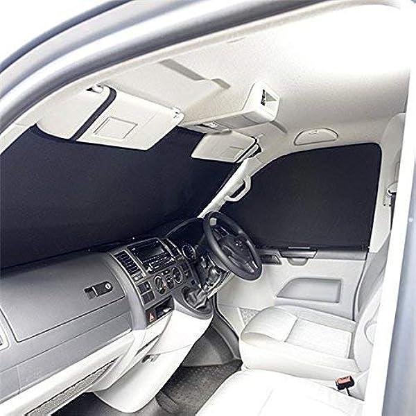 Dietro conducente protezione solare grigio misura Tendine per VW t5 t6 Transporter Multivan