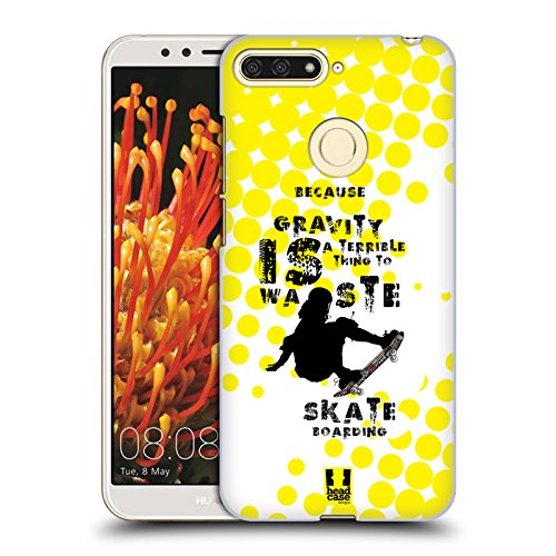 Head Case Designs Skateboarding Extremsportarten Ruckseite Hülle für Huawei Honor 7A Y6 Prime 2018